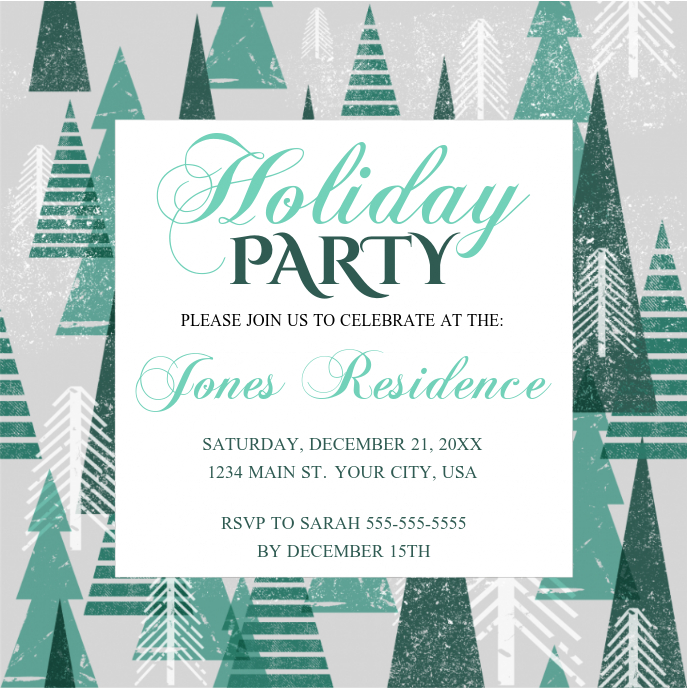 Holiday Party Sampul Album template