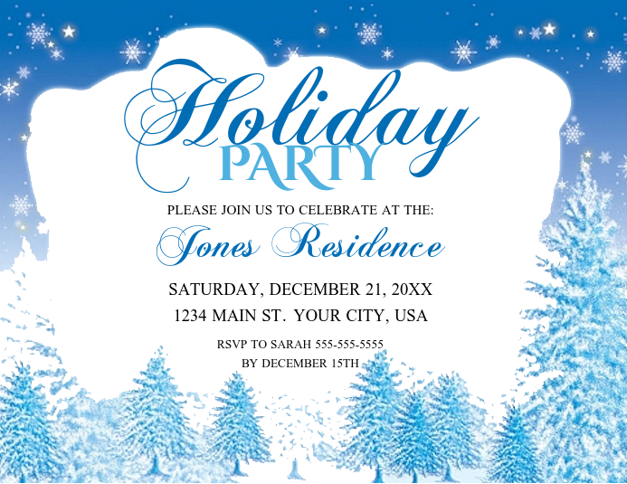 Holiday Party Løbeseddel (US Letter) template