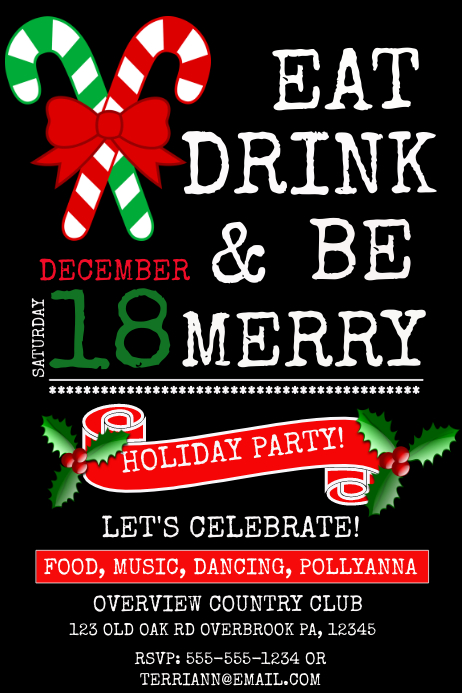 HOLIDAY PARTY Template PosterMyWall