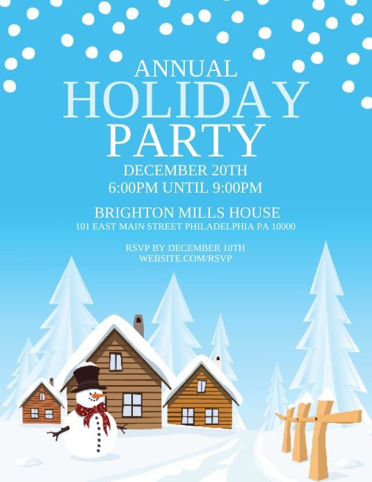 Holiday Party Pamflet (Letter AS) template