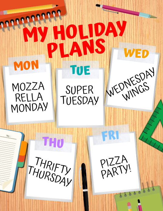Holiday Plans Flyer