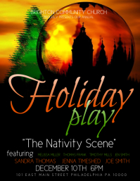 Holiday Play Flyer (US Letter) template
