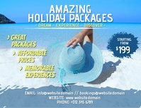 Holiday poster flyer template