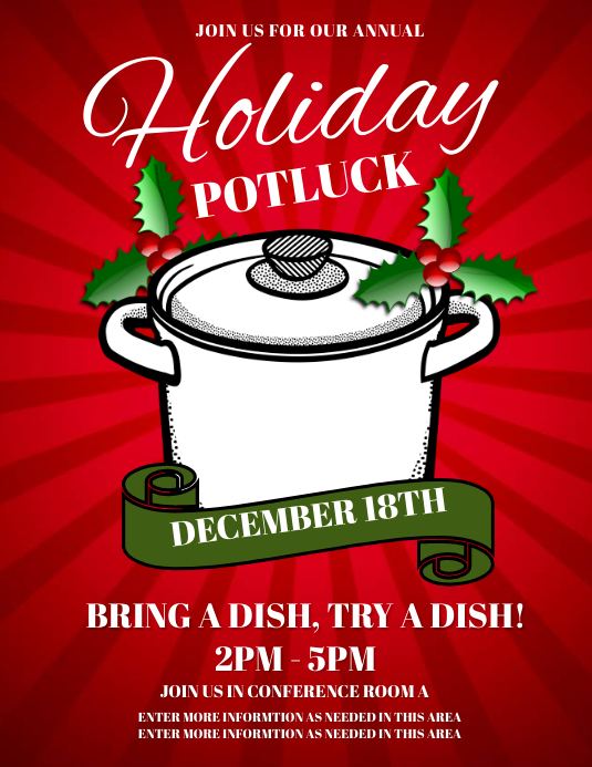 holiday potluck template
