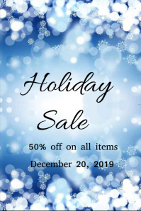 Holiday Sale Poster and Fyer