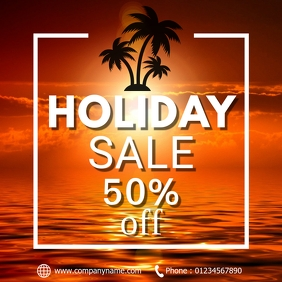 Holiday sale โพสต์บน Instagram template
