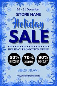 Holiday sale Плакат template