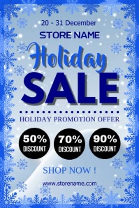 Holiday sale Póster template
