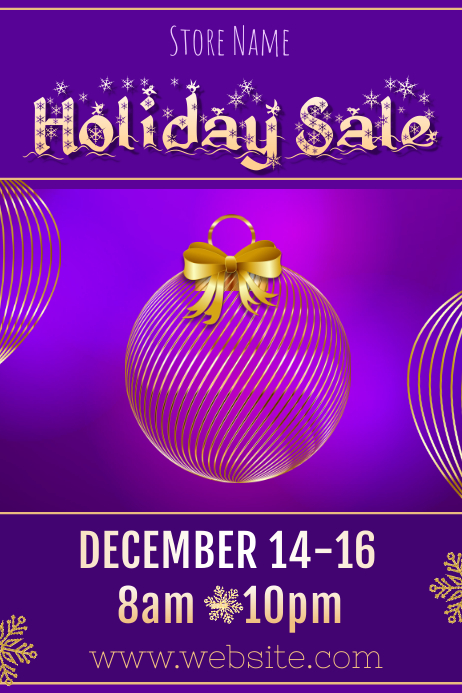 Holiday Sale Poster Template