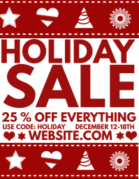 Holiday Sale Løbeseddel (US Letter) template