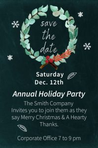 Holiday Save the Date Poster template