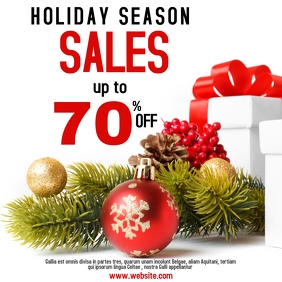 Holiday season sales Instagram post 70%off