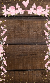 Holiday Specialty 6 Item Menu on Wood US Legal template