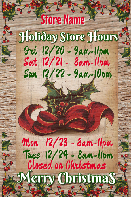 Holiday Store Names