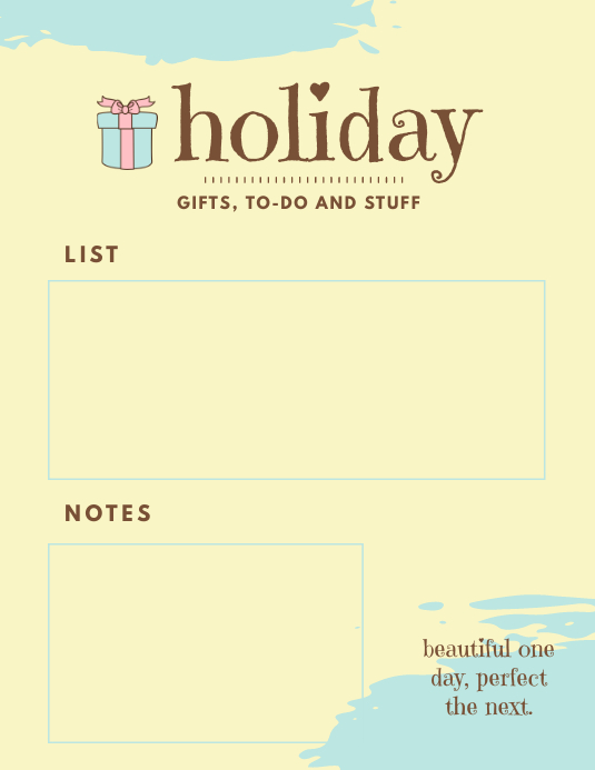 Holiday To Do List Templates Flyer (US Letter)