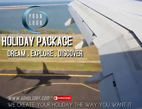 Holiday Tour Package Flyer (US Letter) template