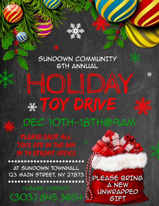 Holiday Toy Drive Flyer