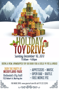 Holiday Toy Drive Poster Template
