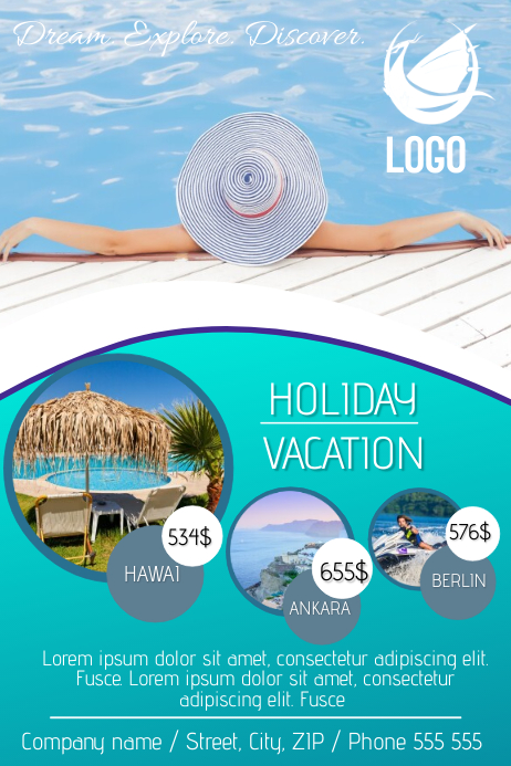 copy of holiday travel agency flyer