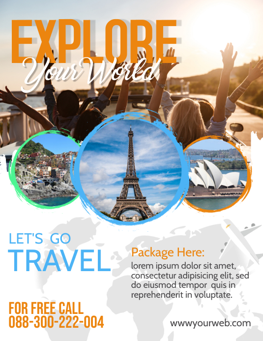 Holiday Travel Flyer Pamflet (VSA Brief) template