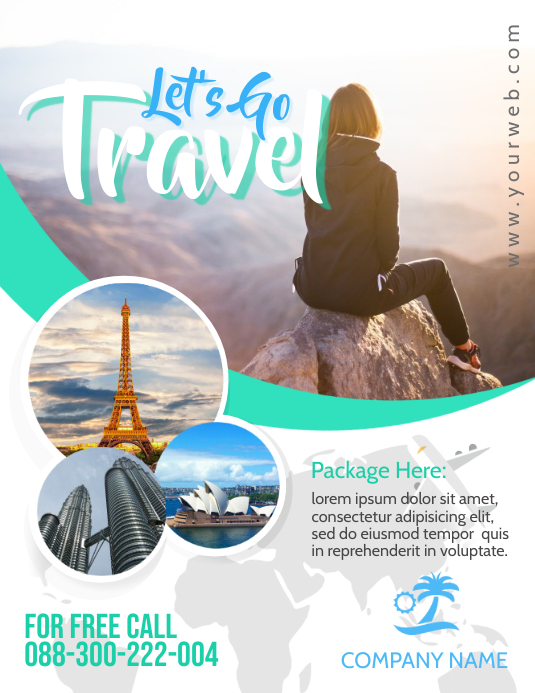 Holiday Travel Flyer ใบปลิว (US Letter) template