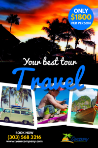 Holiday Travel Poster Template