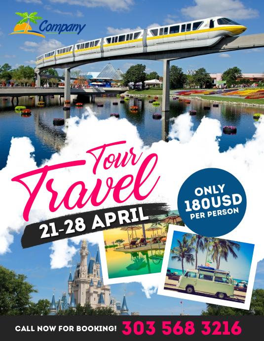 Holiday Travel Flyer Template Folder (US Letter)
