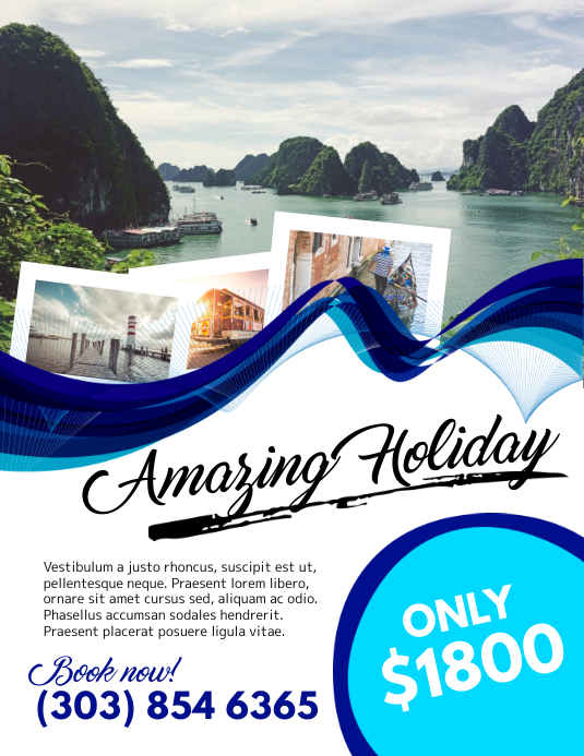 Holiday Travel Flyer template