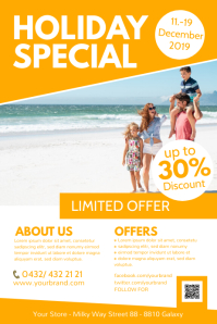 Holiday Travel Special Hotel Wellness Family Poster template
