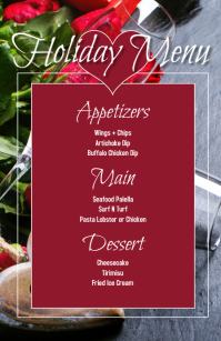 Holiday Valentines Event Menu Halv side bred template