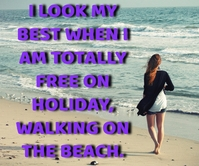 HOLIDAY WALKING QUOTE TEMPLATE Large Rectangle