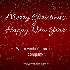 holiday wishes christmas greetings video template