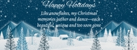 Holiday Wishes Snow Facebook-Cover template