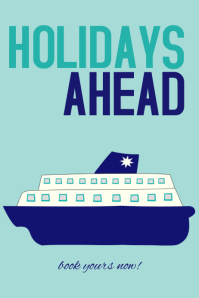 holidays ahead travel poster