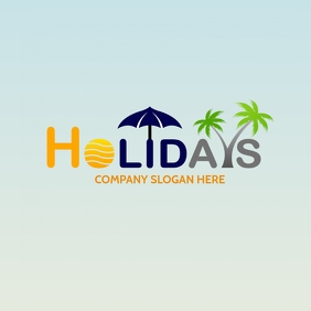 HOLIDAYS LOGO template