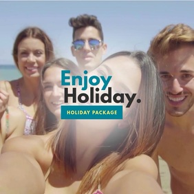 Holidays Video Template Albumcover