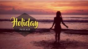 Holidays Video Template Digitalanzeige (16:9)