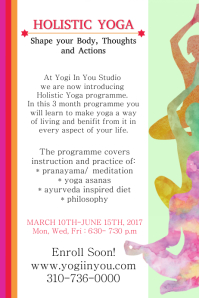 Holistic Yoga Poster Template