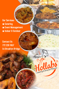 Hollabs Catering Poster template
