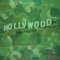 hollywood music Mixtape/Album Cover Art ปกอัลบั้ม template