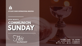 holy communion church flyer Digital Display (16:9) template