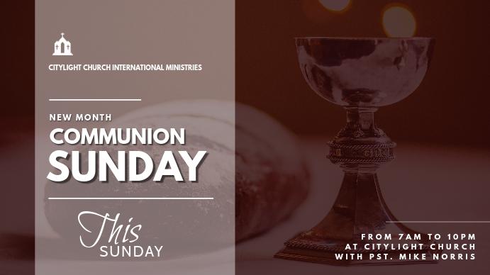 holy communion church flyer