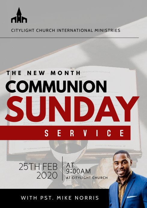 holy communion church flyer A3 template