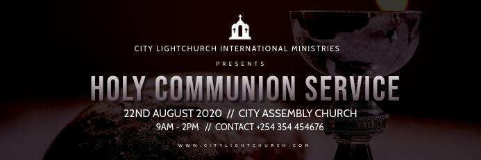 Holy communion church flyer Cartel de 2 × 6 pulg. template