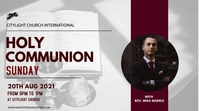 holy communion church flyer Digitale Vertoning (16:9) template