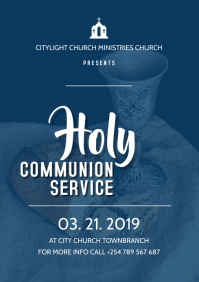 holy communion church flyer
