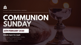 HOLY COMMUNION church flyer Digitalanzeige (16:9) template