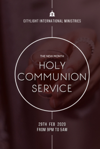 holy communion church WORSHIP flyer Poster template
