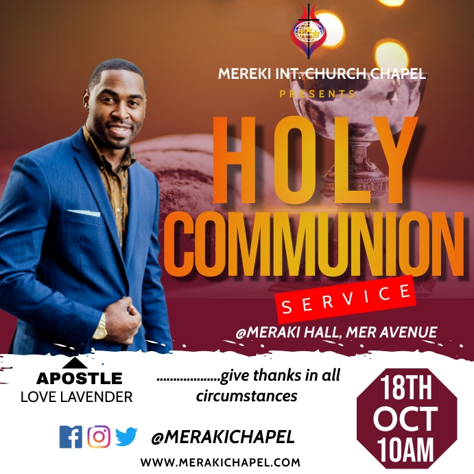 Holy communion flyer Pos Instagram template