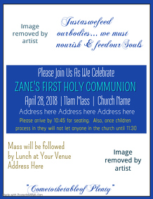 Holy Communion Flyer Template